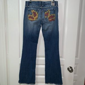 VTG Chip & Pepper Blazing Saddle Flare Jean